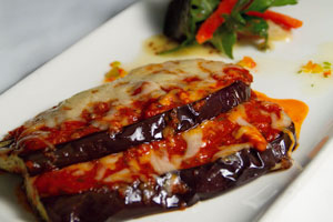 Duffys-Malahide-best-food-in-Dublin-Grilled-Aubergine-with-Spicy-Tomato-&-Parmesan-Cheese