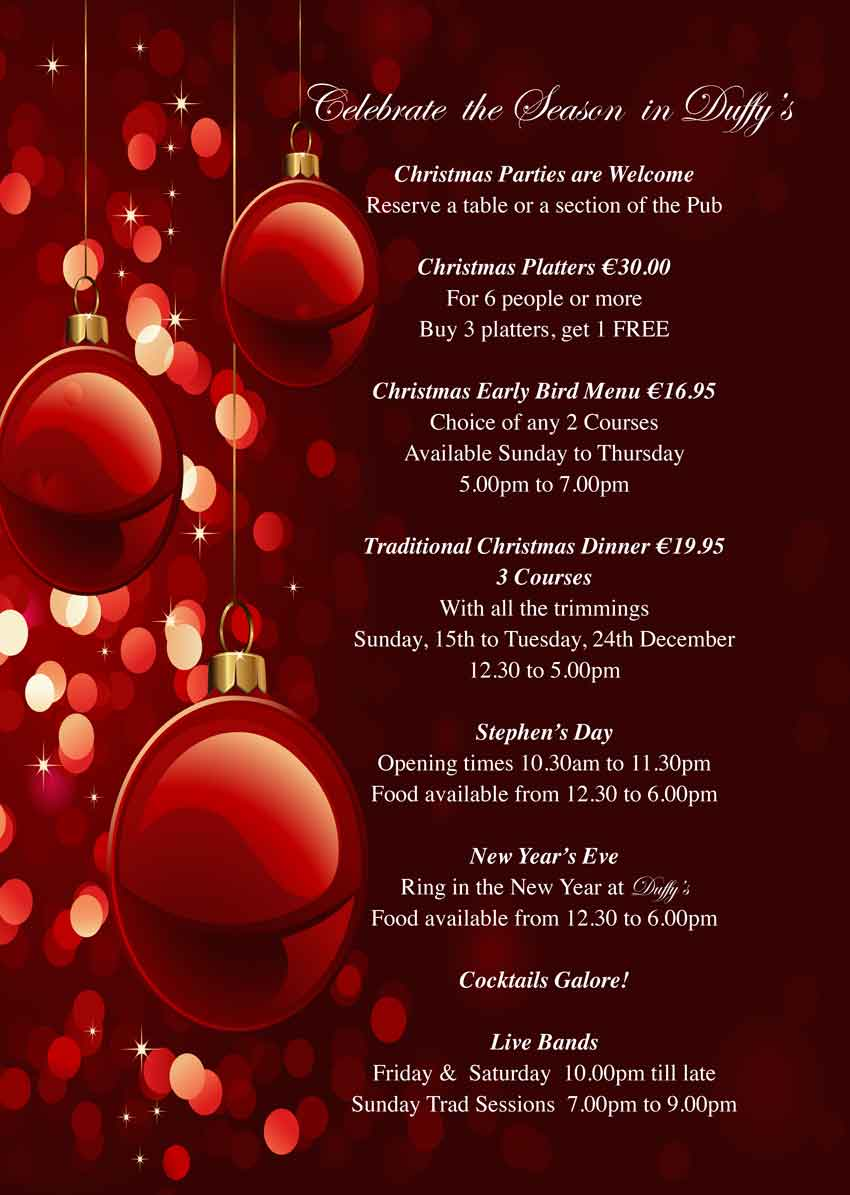 Duffys-Malahide-Christmas-parties-Lunch-and-Dinner-Menus