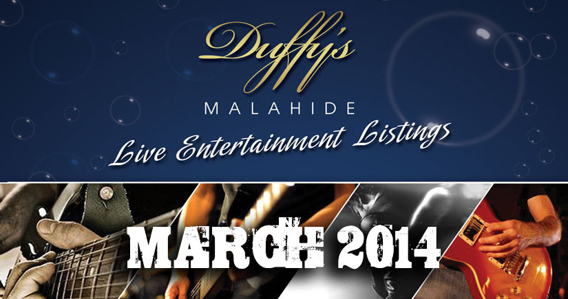 DUFFY'S---Band-Listings-March-2014-Top-live-Music-Venue